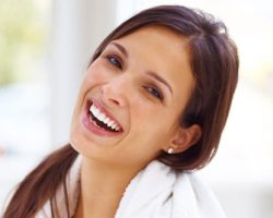 Lady Laughing | West Liberty, IA and Muscatine, IA | Gentle Family Dentists